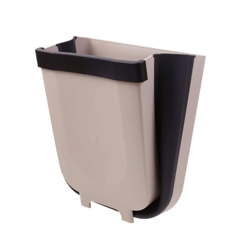 Contenedor de basura plegable montado en la pared Puerta del gabinete de cocina Contenedor de basura colgante Contenedor de basura plegable Puerta de gabinete de cocina Contenedor de basura