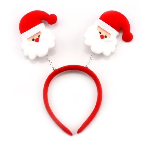 Weihnachtsstirnbänder Santa Reindeer Kinderstirnband tragen Rentiergeweih Santa Hat Stirnband Hüte für Kinder & Erwachsene Weihnachtsfeiertag und Neujahrsparty