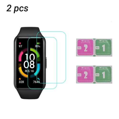 Smart Watch Screen Protector Anti-Scratch Soft Film Ultra-Thin Smart Wristband Protector High Transparency Cover Replacement for HONOR Band 6 (2 Packs)