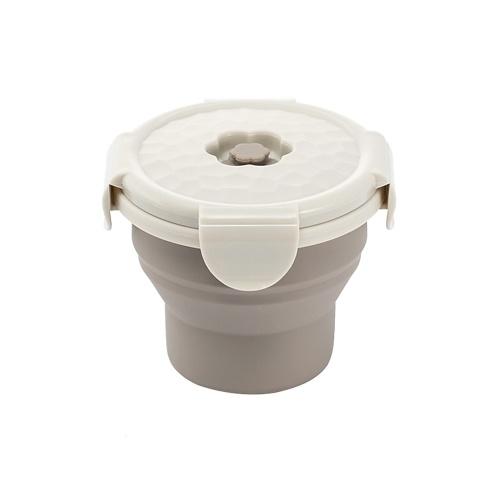 Jordan & Judy - Fiambrera de silicona portátil con taza plegable, 1 unidad, 240 ml, 540 ml, 660 ml, cuenco de comida, cocina casera, contenedores de almacenamiento de alimentos al aire libre, caja para viajar, acampar