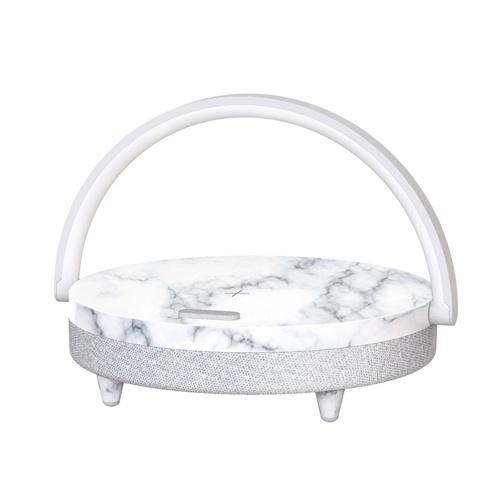 EZVALO Wireless Charging Music Schreibtischlampe Drei-Gang-Dimmen BT 5.0 Lautsprecher Typ C Ladegerät Halter Beleuchtung Dekoration für Home Bedroom Desk