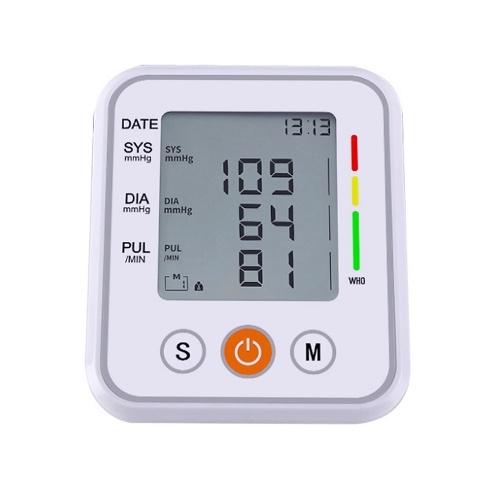 Arm Blutdruckmessgerät Tragbares Blutdruckmessgerät Herzfrequenzalarm mit automatischer digitaler LCD-Anzeige Intelligente Druckbeaufschlagung Voice Broadcast Smart Electronic Device