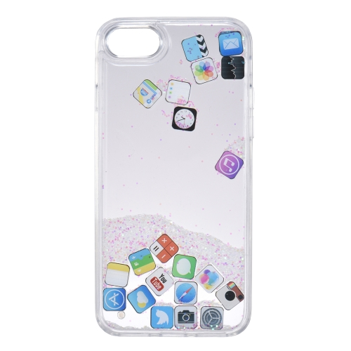 Quicksand APP Pattern Phone Case para iPhone 7 iPhone 8 Bling Cute Protective Phone Case Anti-dust Anti-scratch