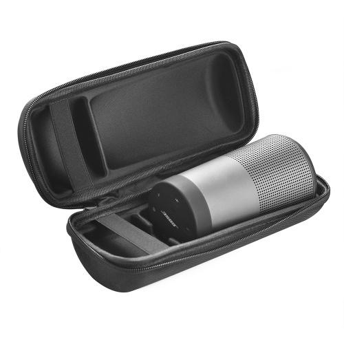 BS Soundlink Revolve Travel Case Tragen Sie Schutz Lautsprecher Box Pouch Tasche Reißverschluss Aufbewahrungsbox Extra Platz für Steckerkabel