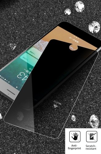 1 Pcs Screen Protector Anti-Peeping Privacy Protection 2.5D Curved Tempered Glass Film Ultra-Thin High Transparency Anti-Dirt Shatterproof Anti-Scratch Protective Phone Protector Film for iPhone 6P