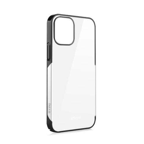 VPG Protective Phone Case Ultradünne galvanisierte PC-Hülle Stoßfest/kratzfest/schweißfest/Anti-Fall Clear Bumper Case Unterstützt kabelloses Aufladen Kompatibel mit iOS Phone 12 Mini 5,4 Zoll