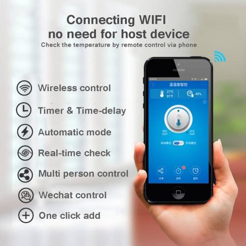 Sonoff TH10 WiFi Smart Switch Remote Controller Smartphone Temperature and Humidity Sensor for Smart