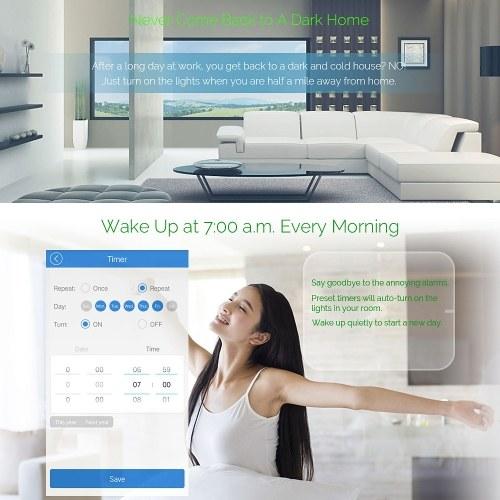 Interruttore a parete touch-switch Smart Smart WiFi Interruttore touch-screen standard UE Pannello di cristallo Interruttori a LED