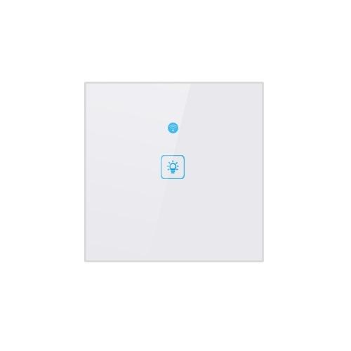 WiFi Smart Touch-Switch Настенный выключатель света Стандартный стандарт Великобритании Сенсорный выключатель Панель из хрусталя Светодиодные лампы