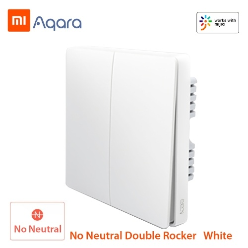 Xiaomi Aqara QBKG03LM Smart Wall Switch Smart Wi-Fi Control Lighting from Anywhere Home Smart Wall Touch APP Home Device Remote Control Voice Control Household No Hub Required ZigBee Version