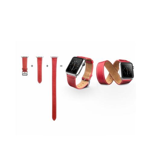QIALINO Braçadeira de Braga de Reposição de Couro Genuíno para Apple iWatch Series 3/2/1 42mm Sport / Edition Pulseira de Pulseira para Mulher Masculina com Fecho de aço inoxidável