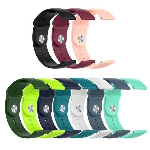 22mm Sport Watch Band Quick Release Replacement Smart Watch Strap Soft Silicone Wristband for Watch