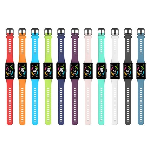 Cinturino in silicone Smart Watch Band Sostituzione Cinturino cinturino Cinturino regolabile Cintura per donna Uomo Sostituzione per HONOR Band 6