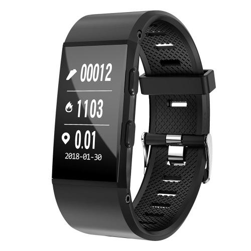 S1 Pulseira Inteligente 0.96 polegada de Monitor de Freqüência Cardíaca BT4.1 Monitoramento de Freqüência Cardíaca de Fitness IP67 À Prova D 'Água Moda Multi-Modos de Esportes Das Mulheres Dos Homens Smartwatch para iOS / Android