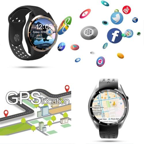 I3 Heart Rate Smart BT Sport GPS 3G/2G Watch Phone WCDMA GSM MTK6580 1.3GHz CPU 1.39
