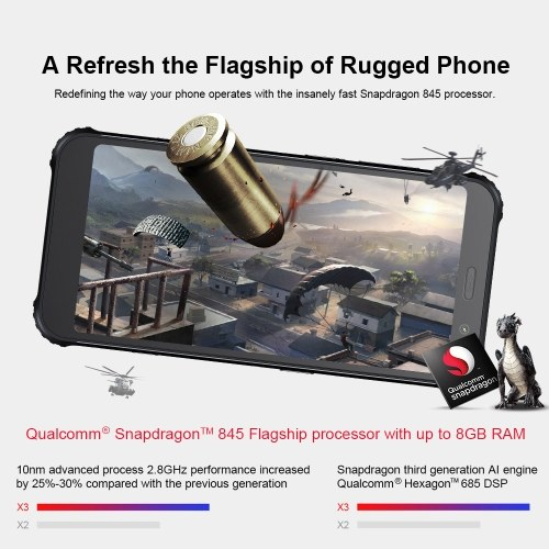 (EU Version)AGM X3 Rugged Smartphone 6GB+64GB IP68 Waterproof PS0057B-EU-1