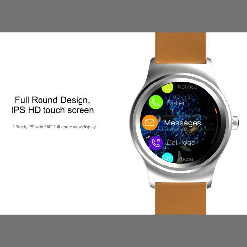 SMA Round Smart Watch 1.3-Inch IPS Display MTK2503A Activity Tracker Call Syncing Message Notificati