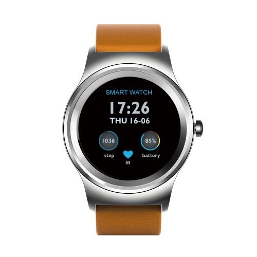 SMA Round Smart Watch 1.3-Inch IPS Display MTK2503A Activity Tracker Call Sincronização Notificação de mensagens 300mAh 128MB + 64MB Music Control Remote Camera