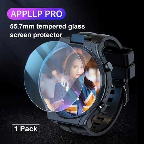 55.7mm Smart Watch Tempered Glass Screen Protector Clear Screen Protective Film Anti-Scratch/Anti-Bubble Wristwatch Cover Replacement for LOKMAT APPLLP Pro Smartwatch 1-Pack