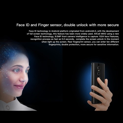 AllCall MIX 2 4G Mobile Phone Face ID 6GB RAM+64GB ROM 【with Qi Wireless Charger】