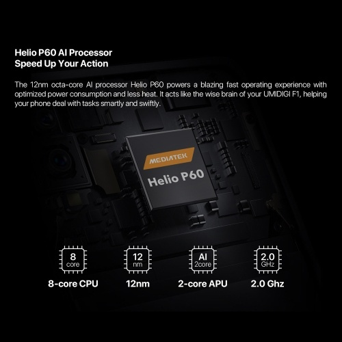 (Версия не для ЕС) UMIDIGI F1 4G Smartphone