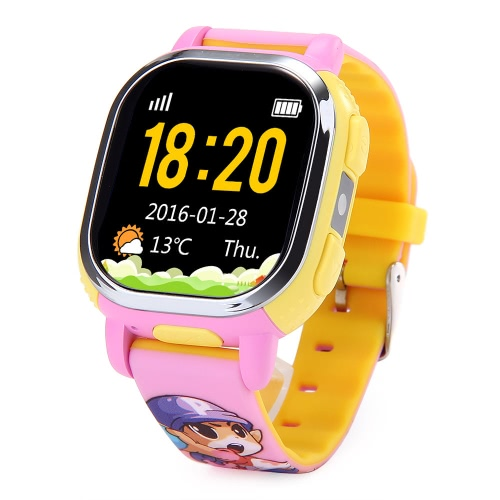 Versão Européia Tencent PQ708 QQWatch 2G GSM IP65 Water-reisitant Kids Smart Watch Telefone Mini GPS LBS localizador Tracker 1.22 polegadas 2.5D colorido Touch Screen MTK6260D para iPhone 6 6S 6 Plus 6S Plus Samsung S6 S6 borda S7 S7 borda HTC LG Smartphone SOS Emergência Podômetro WiFi Smart Mobile App Fashion Durable para Android 4.0 iOS 7.0 ou superior