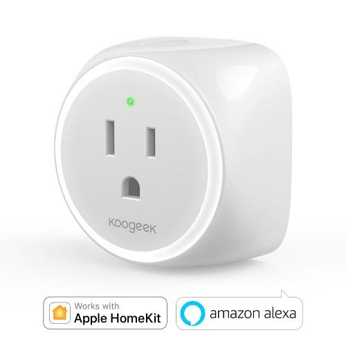Koogeek Wi-Fi Enabled Improved Smart Plug for Apple HomeKit and Android Remote Control - US Plug