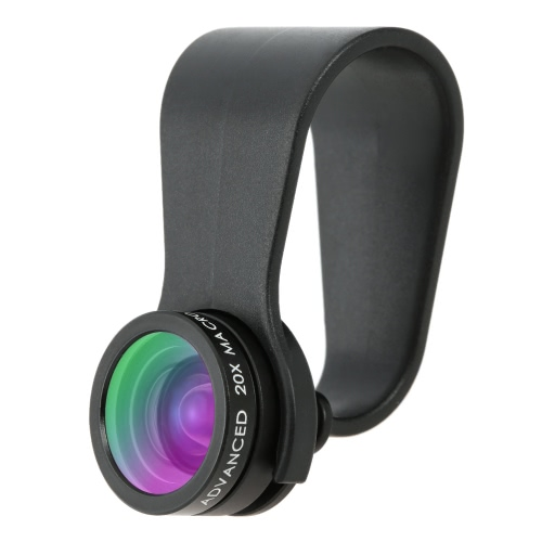 Arealer Unniversal Mini clip-on Cell Phone Camera Lens Kit 160° Fisheye et 20 X Macro objectif pour iPhone Smartphones Android