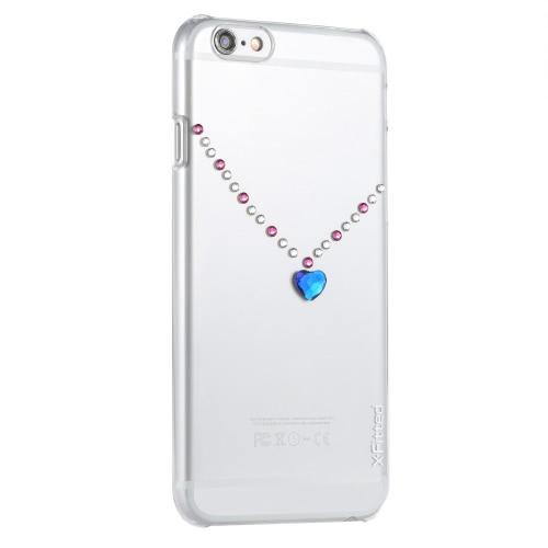 Оригинальные X-Fitted роскошь защитный ясно обратно пластины бампер телефона оболочки жесткий чехол с Swarovski стразы покрытие дизайн iPhone 6 плюс 6S плюс 5,5 дюйма
