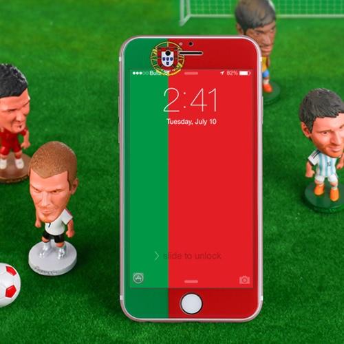 Bancos Europa futebol fãs tela protetora filme completo tampa telefone Anti-Blu-ray Alemanha / França / Portugal / Espanha / Itália / Inglaterra para iPhone 4.7 polegadas 6 / 6S 9H 0,23 mm ultrafinos alta transparência anti-sujeira Shatterproof anti-scratch
