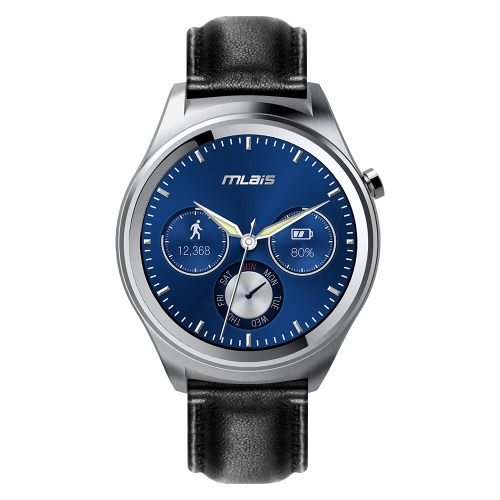 Mlais Watch Smart Watch Android 5.1 OS MTK2601 Dual Core 512MB RAM 4GB ROM 1.3inch Screen Bluetooth 4.1 for Android 4.3 Above Smartphone Gyroscope Pedometer   Heart Rate Monitor Message Reminder Music Control Countdown Making Calls