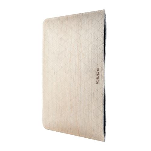 Samdi 10 polegadas Birch madeira capa protetora Caso Shell com Inner Felt Base para 9.7