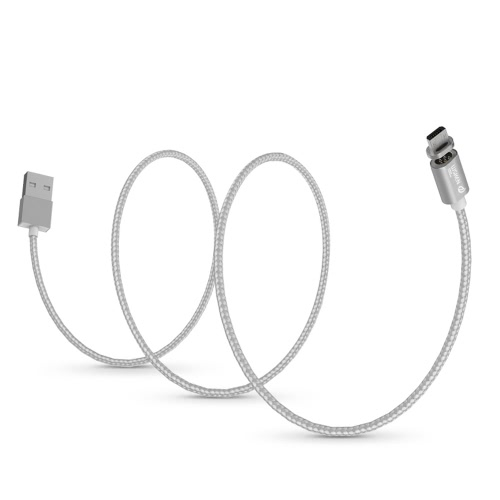 WSKEN Original X-cabo Mini 1 Metal Magnetic Micro USB cabo de carregamento USB 2.0 Intelligent cabo de sincronização de dados Carregador Rápido ficha de carregamento Anti-pó para Samsung S7 S6 Borda HTC Motorola Nokia Xiaomi smartphones Android Tablets