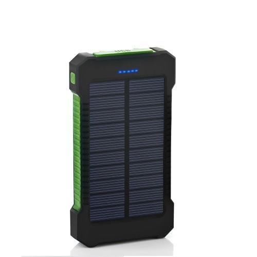 8000mAh Carregador de painel de energia solar LED Light Portas USB duplas Capacidade grande recarregável Waterproof Non Slip Power Bank Carregador portátil para Smartphone Camping