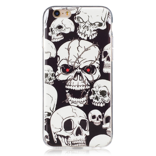 Ultra-Thin Soft TPU Phone Case Slim Shock-Absorption Anti-Scratch Protective Shell Luminoso à prova de choque Glow in the Dark Cover Cell Phone Case for iPhone 6 / 6S 1 #