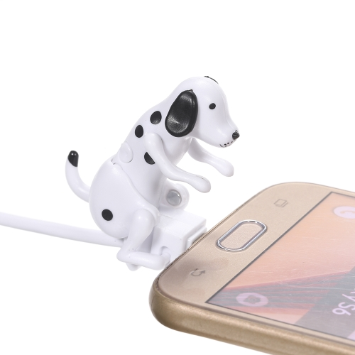 Portable Funny Cute Pet USB Cable Mini Humping Spot Dog Toy Gadget Charger Christmas for iPhone Lightning Dock
