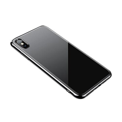 Schutz Telefon Fall 360 ° Schutz Anti-Kratzer ultradünne transparente TPU weiche überzogene Handy-rückseitige Abdeckung für iPhone XS