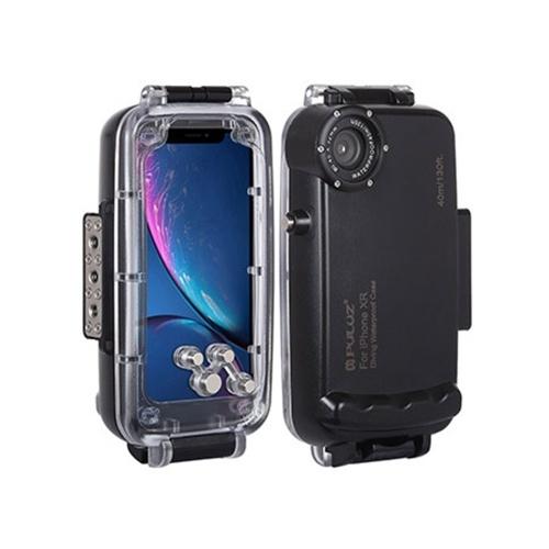 PULUZ 40m / 130ft Tauchen Unterwassergehäuse Smartphone-Schutzhülle Unterwassergehäuse Schutzhülle Stoßfest 360 ° Rundumschutz für i-Phone XS Max / XR