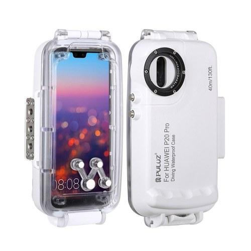 PULUZ 40m / 130ft Tauchen Unterwassergehäuse Smartphone-Schutzhülle Unterwassergehäuse Schutzhülle Stoßfest 360 ° Vollschutz für Huawei P20 / Huawei P20 Pro / Huawei Mate 20 Pro