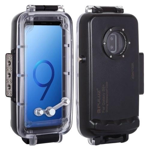 PULUZ 40m / 130ft Diving Unterwassergehäuse Smartphone-Schutzhülle Unterwassergehäuse Stoßfester 360 ° -Vollschutz für das SAMSUNG Galaxy S9 / SAMSUNG Galaxy S9 +