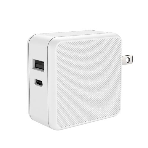 M2 65W Large Power GaN2pro PD Adattatore di ricarica rapida Spina Mini caricatore da parete pieghevole con porta USB-C + USB-A per telefono / laptop / tablet