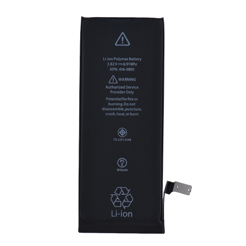 Batterie de relacement de téléphone de capacité élevée pour la batterie au lithium intégrée de téléphone portable de l'iPhone 6 1810mAh 3.82V