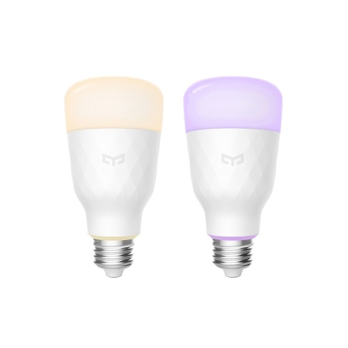 Bombilla LED inteligente Yeelight Colorful 800 lúmenes 10W E27 Lámpara de bombilla inteligente de limón (color cálido))