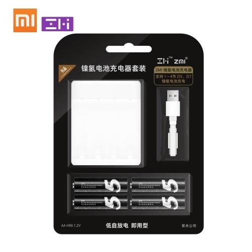 Xiaomi ZMIニッケル水素充電器AA Z 15 Z 17 4スロット充電式バッテリーボックスインテリジェント多機能ポータブル1700 mAh