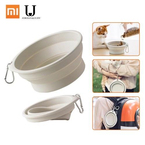 Xiaomi Силиконовая Складная миска для корма для домашних животных Складная силиконовая миска для домашних животных Пищевая вода для кормления BPA Бесплатная складная дорожная чашка для собак Кошка наряд Портативное блюдо