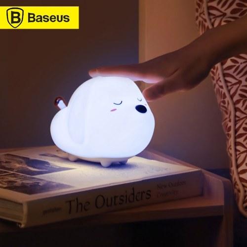Baseus LED Nachtlicht RGB Soft Silicone Touch Control Nachtlicht Wiederaufladbare Nachtlampe für Kinder Kinderzimmer
