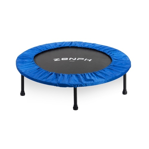 Zenph Foldable Muted Round Trampoline Kids Indoor Entertainment Tool Adult Fitness Workout Stability Training Trampoline 40inch 150kg Load