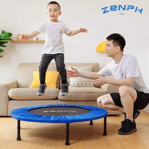 Zenph Foldable Muted Round Trampoline Kids Indoor Entertainment Tool Adult Fitness Workout Stability Training Trampoline 40inch 150kg Load From Xiaomi Youpin