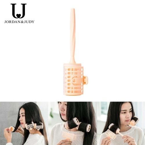 Jordan Judy 4Pcs/Set Plastic Hair Rollers Curlers Bangs Self-Adhesive Hair Curling Styling Tools Fluffy Hair Volume Magic DIY Makeup Tools for Ladies Women Gift
