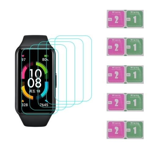 Smart Watch Displayschutz Anti-Scratch Softfilm Ultradünner Smart Wristband Protector Hochtransparente Abdeckung Ersatz für HONOR Band 6 (5 Packungen)